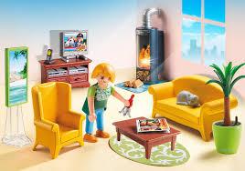 Livingroom Cartoon Living Room With Fireplace 5308 Playmobil United Kingdom