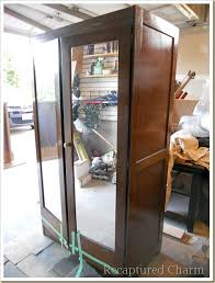 Armoire With Glass Doors Old Armoire To Kitchen Pantry Hometalk