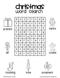 printable word search puzzles for 1st graders december no prep packet 1st grade christmas word search