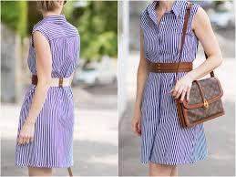 summertime dressing striped dress leather belt u0026 lace up sandals