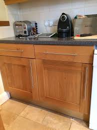 kitchen units b q it design oak cupboards in dorchester dorset kitchen units b q it design oak cupboards
