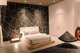 interior zen bedroom decor with natural wood color scheme double