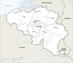 Map Of European Rivers by Home Digital Maps Country Maps Map Of Belgium Political New Zone