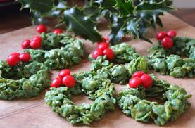 christmas cornflake wreaths recipe goodtoknow