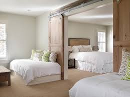 Bedroom Barn Door Country Bedroom With Barn Doors On Rails Country Bedroom