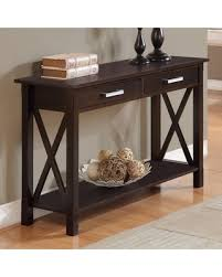 home furniture kitchener bargains on simpli home kitchener 2 drawer console table