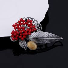 2017 mloveacc retro jewelry gun metal vintage leaf brooches