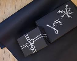 black matte wrapping paper black wrapping paper etsy