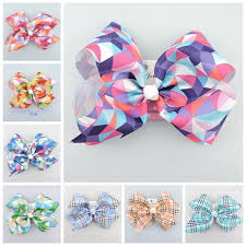 cheap hair bows cheap jojo 18cm gingham plaid ribbon cheer abc hair bows