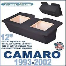 camaro speaker box 93 02 camaro 12 dual sealed baric subwoofer box enclosure