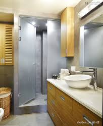 apartment bathroom designs white frosted glass door white marmer sink apartment