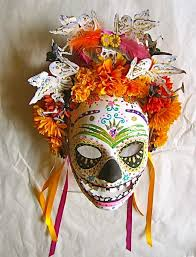 Day Of The Dead Mask Día De Los Muertos Day Of The Dead Mask Hand Painted