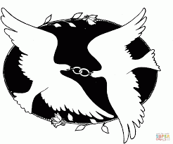 couple dove coloring page download and printable holiday