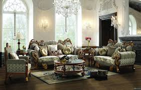 Livingroom Sets by Russia Style Flower Pattern Design Fabric Sofa Sets Living Room