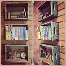 Wooden Crate Shelf Diy by Best 25 Diy Dvd Shelves Ideas On Pinterest Dvd Storage Shelves