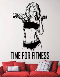 popular gym wall decals buy cheap gym wall decals lots from china fitness wall decal gym woman vinyl wall stickers motivational sports room interior removable stickers vinyl wall