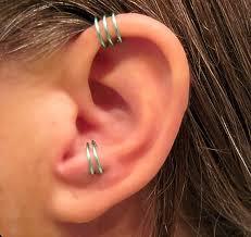cuff piercing 2 cuffs no piercing 1 helix cuff ear cuff