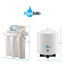 amazon com aqualutio premium 5 stage reverse osmosis filtration