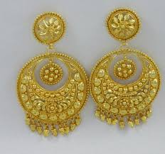 bengali gold earrings gold plated chand bali sparkle world wholesale trader in