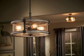 Kichler Lighting Kitchen Lighting by Barrington 4 Light Pendant In Anvil Iron