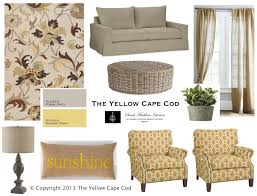 Grey And Yellow Chair The Yellow Cape Cod Warm Gray And Sunny Yellow Living Room