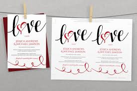Red And Black Wedding Invitations Diy Wedding Invitation Template Download Instantly Editable