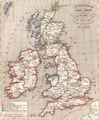 Map Of England And Ireland by Of England Scotland And Ireland Print In 1850