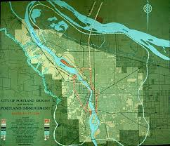 map of oregon freeways moses plan portland s transportation history the city of