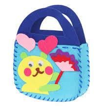 aliexpress com buy 1pcs kids children handmade diy applique bag