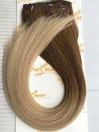 tressmatch hair extensions 16 18 ombre hair extensions brown to blonde remy human hair