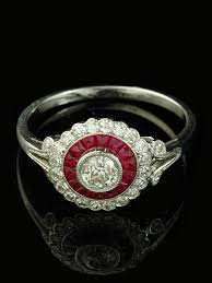 18ct white gold art deco style ruby and diamond ring goodwins