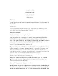 Prep Cook Duties For Resume Duties Of A Carpenter Construction Services Carpentry And The