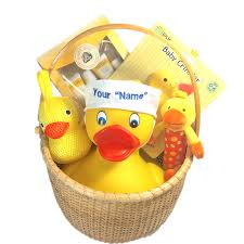nantucket baby shower gift basket ducks in the window