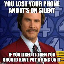 Lost Phone Meme - you lost your phone and it s on silent if you liked it then you