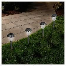 garden led solar honeycomb glass pathway lights set of 6
