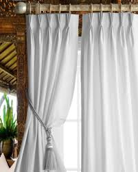 Pinch Pleated Lined Drapes Buy White Trellis Faux Silk Living Room Lined Window Curtain Panel