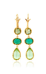 dean harris hoops dean harris handmade green chrome mint sapphire earrings with 18k