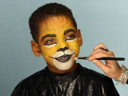 kid u0027s halloween makeup tutorial lion hgtv