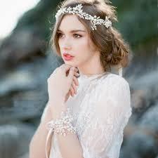 chain headpiece luosu handmade pearl headband hair jewelry wedding