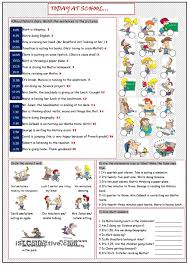 today at present continuous tense teaching kids
