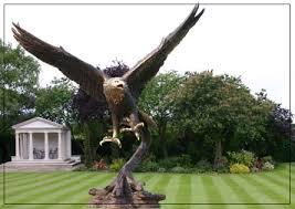 golden eagle bronze garden ornament bronze sculpture bronze
