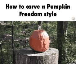 Pumpkin Carving Meme - how to carve a pumpkin freedom style memes com