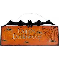 happy halloween light up hanging sign bat 63531 craftoutlet com
