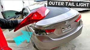 2010 hyundai elantra tail light assembly how to remove and replace outer tail light on hyundai elantra youtube