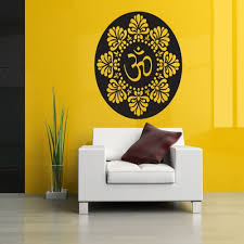 compare prices on vinyl buddha wall stickers online shopping buy free shipping wall decor decals om mandala flower ornament hindu buddha yoga decals art vinyl wall