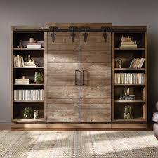 Sliding Door Bookcase Farm Door Bookcase U0026