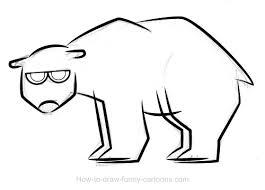 polar bear drawings sketching vector