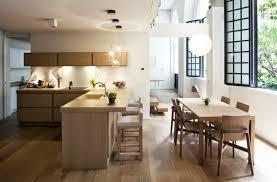 le de cuisine moderne photo de cuisine moderne bois et blanc meubles newsindo co
