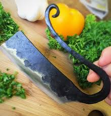 chef knife etsy herb chopper hand forged vegetable knife kitchen chef mezzaluna ulu gourmet gift
