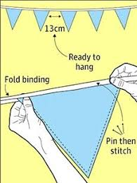 how to make bunting for your campsite or garden gardens